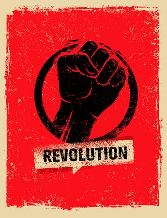 大まかなグランジ背景に革命 SocialProtest クリエイティブ グランジ ベクトル概念  イラスト・ベクター素材