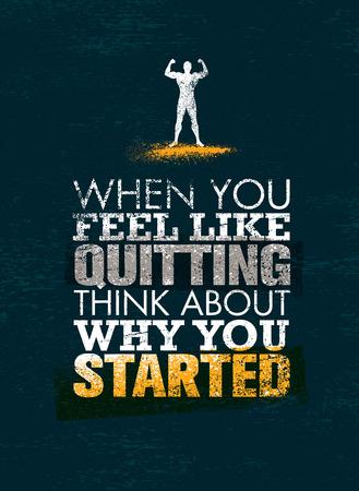 終了したい場合は、あなたを始めた理由についてを考えます。創造的なベクトル スポーツ動機引用