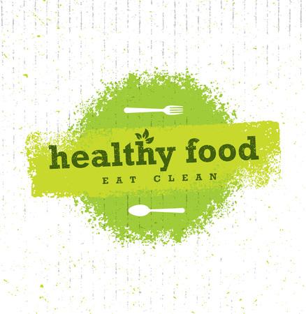 Healthy food organic paleo style Illustration