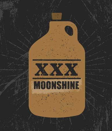 Raw homemade alcohol creative sign