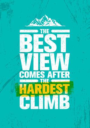 Adventure mountain hike creative motivation concept.