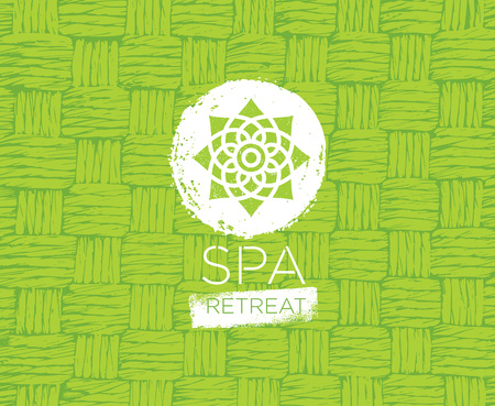 Spa Retreat Organic Eco Background. Nature Friendly Vector Concept. Illusztráció