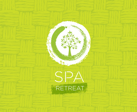 Spa Retreat Organic Eco Background. Nature Friendly Vector Concept. Illustration