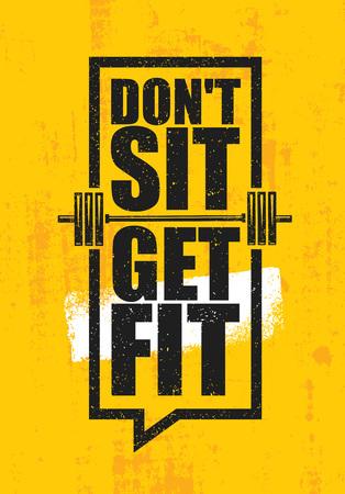 운동 및 피트 니스 체육관 디자인 요소 개념 노란색 그런 지 배경. 일러스트
