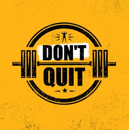Dont Quit. Gym Workout Motivation Quote Stamp Vector Design Element