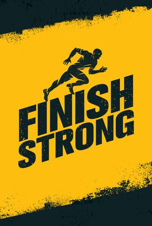 Signe d'illustration de citation de motivation de gym d'entraînement et de remise en forme