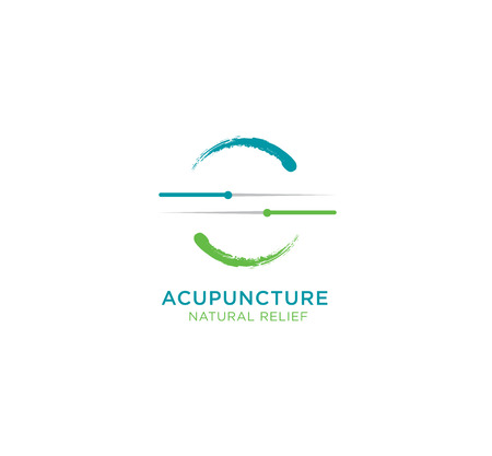 Acupuncture Natural Relief Vector Illustration Concept