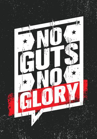 Kein Mumm. Kein Ruhm. Inspirierende kreative Motivation Zitat Poster Vorlage. Vektortypographie-Banner-Entwurfskonzept auf grobem Hintergrund der Grunge-Textur