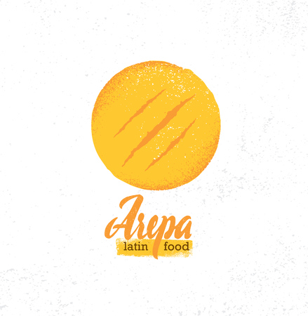 Arepa Home Made Gluten Free Crispy Venezuelan Cuisine Bread. Organic Food Concept On Rough Background.