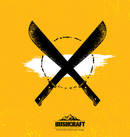 Adventure Mountain Survival Gear Hike Creative Motivation Concept. Extreme Outdoor Design Vector on Rough Distressed Texture Background Illustration