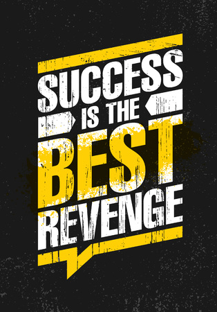 Success Is The Best Revenge. Inspiring Creative Motivation Quote Poster Template. Vector Typography Banner Imagens - 110859979