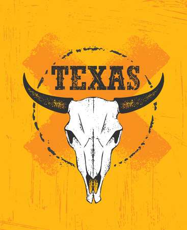 Texas Pride Rough Vector Illustration Grunge Illustration On Stained Wall Background. Stock Photo