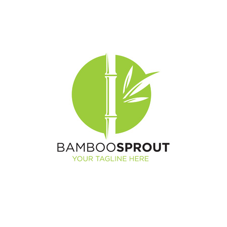 Bamboo Sprout Eco Green Minimalistic Sign Concept.