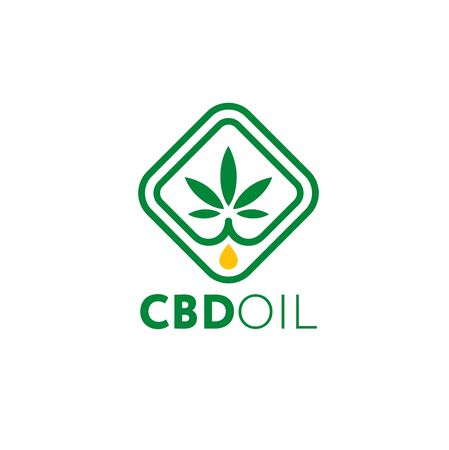 CBD Hemp Oil Creative Vector Design Element