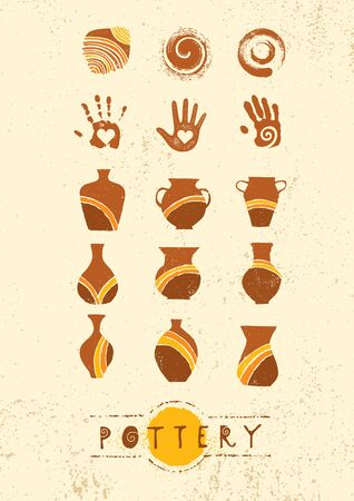 Craft Organische Illustratie Op Gestructureerde Achtergrond. Vector Illustratie