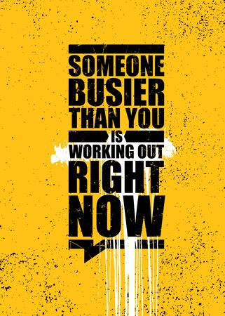 Inspiring Gym Workout Typography Motivation Quote