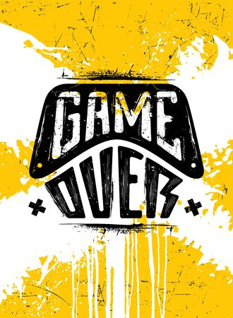 Game Over. Strong Inspiring Illustration Concept On Painted Background Ilustrace