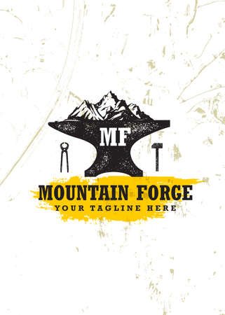 Mountain Forge Blacksmith Craft Concept Stok Fotoğraf - 158057381