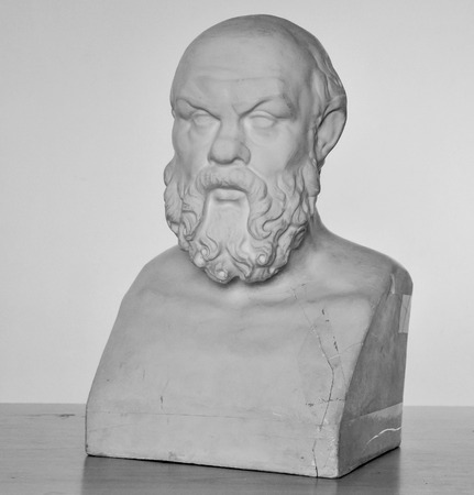plaster bust of Socrates in high quality Stok Fotoğraf - 72450066