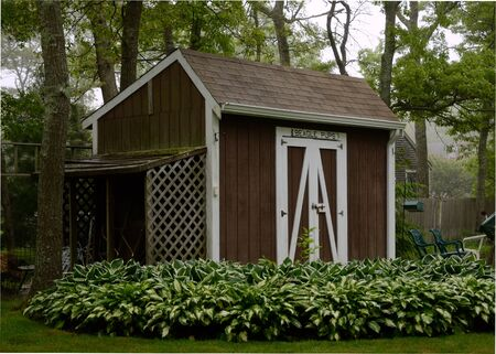 Shed with beagle sign