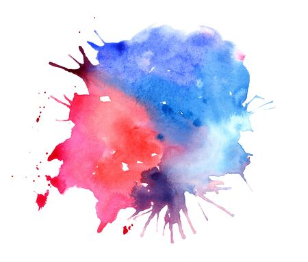 Abstract multicolored splash of water color. Watercolor pictures Stock fotó