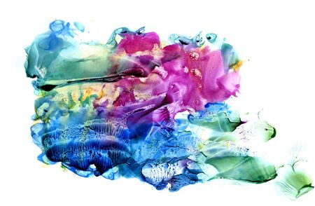 Abstract colored backgrounds. Multicolored background made in mixed technology for design and cards