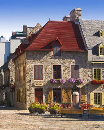 Old Square in Quebec 版權商用圖片