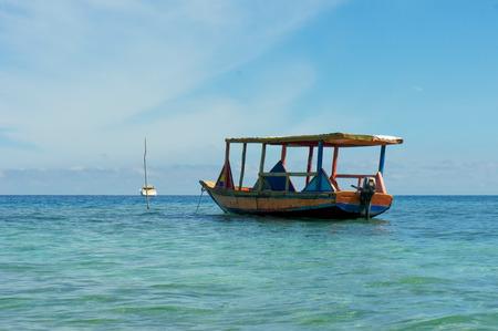 haiti: An old fishing boat near Labadee, Haiti