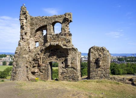 The ruins of St. Anthonys Chapel at Arthurs Deat, Edinburgh