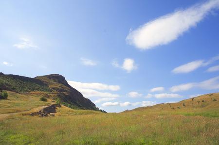 Arthurs Seat, the main peak of a group of high hills in Edinburgh, Scotland 版權商用圖片