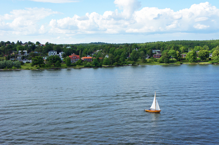 Summertime on the Swedish islands near the coast of Stockholm leading out to the Baltic Sea.