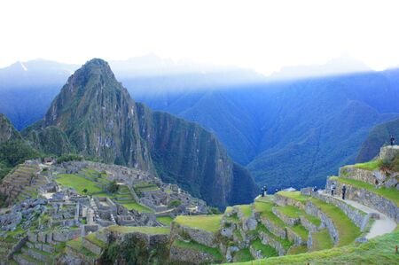 Early morning just after sunrise at Machu Picchu