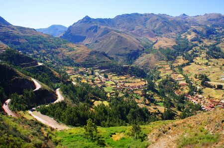 The Sacred Valley, an area important for agriculture for the Incan Empire