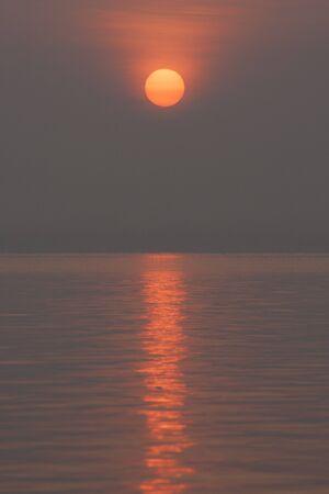 Sunrise on the lake. Stock Photo