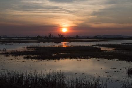 seascapes: Beautiful sunset on the lake.