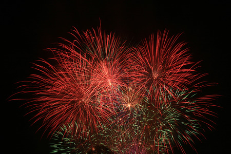 next horizon: Celebration fireworks. Fireworks light up the sky.