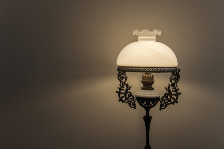 lamp shade: Antiques lamp on dark background.