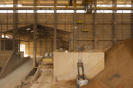 sand quarry: Area for keep mined zinc and other minerals in mine.