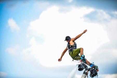 man on flyboard.