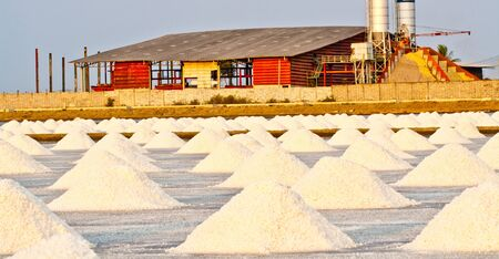 Salt farm near Concrete Plant,Thailand