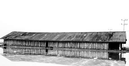 Salt barn in samutsakorn , Thailand