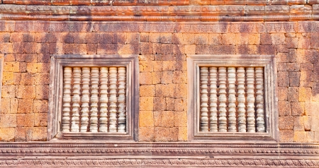 window of Castle of the pool ,Laos