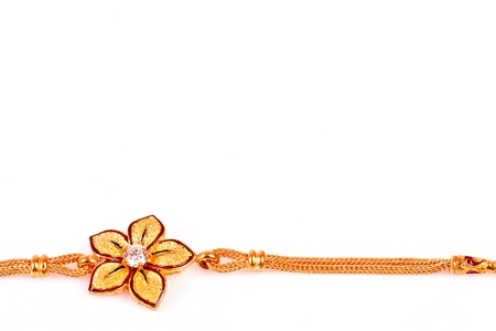 native thai style gold necklace whit accessory Stock Photo