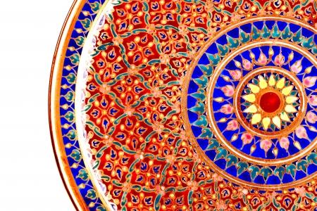 Thai tradition paint  on ceramic bowl or jars call   benjarong  porcelain 免版税图像