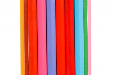 colorful crayon on white Stock Photo - 16365120