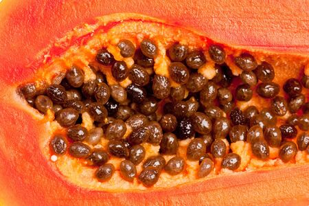 seeds and meat  of delicious papaya
