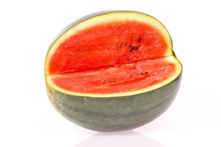 testy watermelon on white background