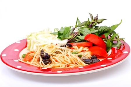 green papaya salad  tropical food of Thailand Stock Photo - 17344178
