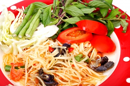 green papaya salad  tropical food of Thailand Stock Photo - 17344238