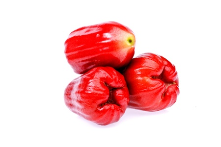 Rose apple fruit  on white background Stock Photo - 17344169